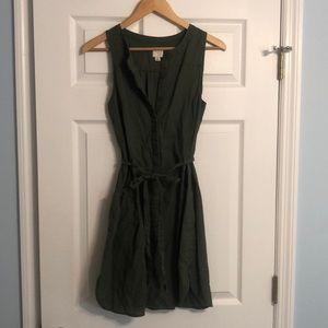 Cargo Green Pocket Dress